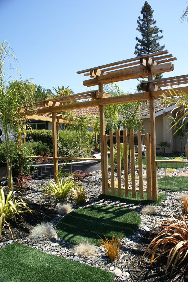 Lowes Clearwater with Modern Landscape Also Arbor Artificial Turf Bushes Fence Garden Entry Gateway Grass Pavers Grass Stepping Stones Gravel Rock Landscape Seatwall Shrubs Synthetic Lawn Tropical Plantings Wire Fence Wood Arbor Wood Fence Wood Gate