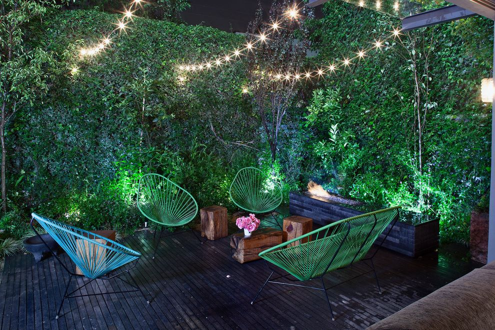 Lowes Conway Sc   Contemporary Deck  and Garden Lights Green Wall Lighting Living Wall Night Outdoor Fireplace Patio Furniture Privacy String Lights Uplighting Wood Stump Stools