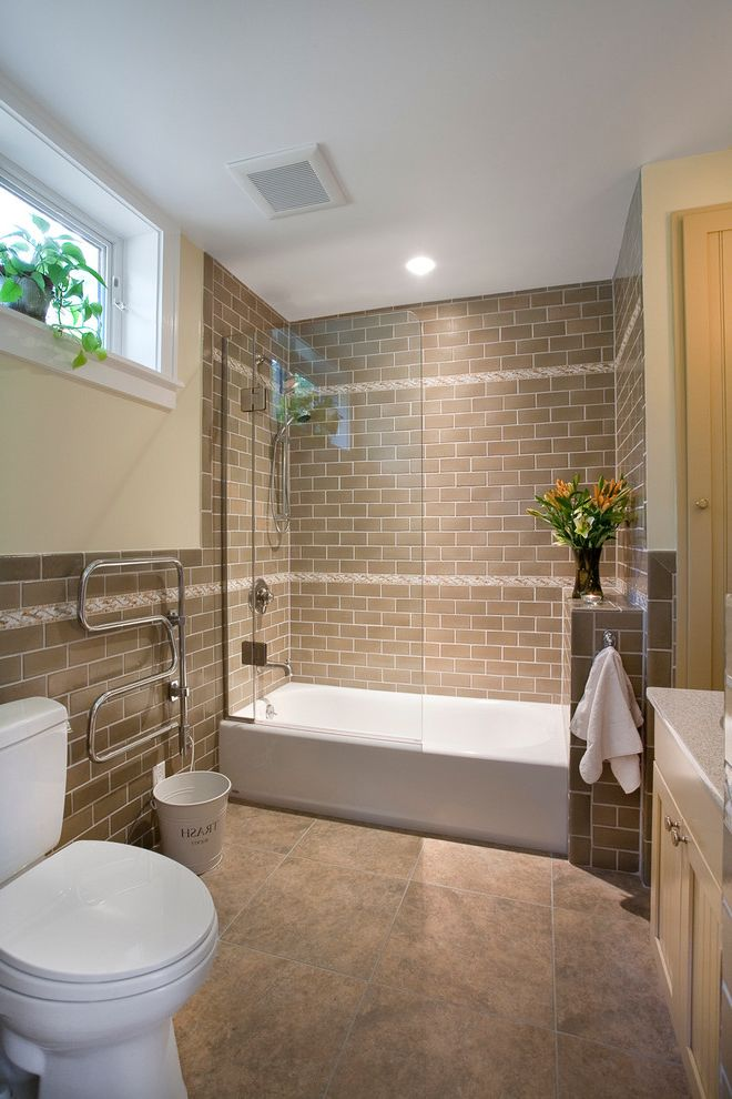 Lowes Conway Sc with Contemporary Bathroom  and Bathtub Glass Panel Towel Warmer Guest House Hardiplank House Loft Passive Re Purposed Reclaimed Recycled Shower Over Tub Standing Seam Studio Tile Floor Toilet Triple Pane White Casing