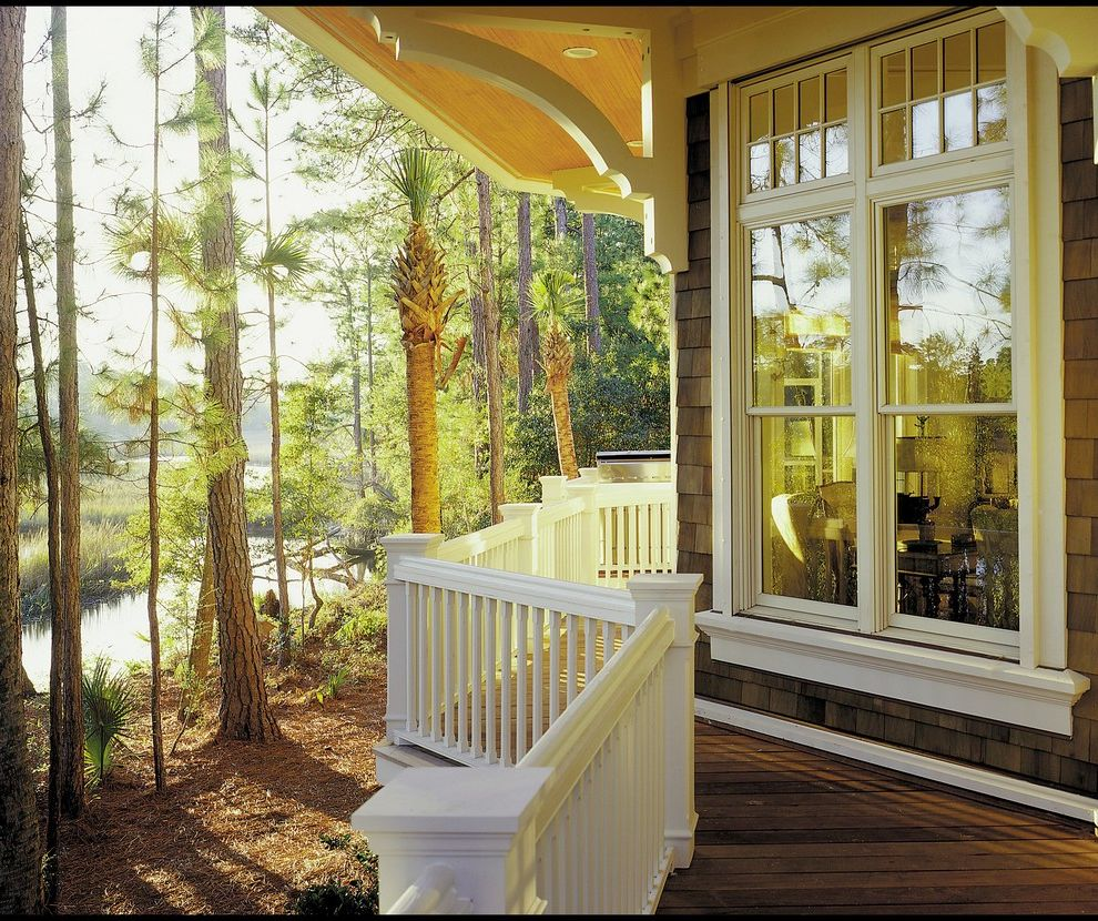 Lowes Conway Sc with Victorian Porch Also Beadboard Ceiling Corbel Deck Low Country Marshland One Over One Window Overhang Pine Apple Pine Grove Pond Porch Rafter Railing Scrubby Pine Shingle Style Shingles Transom Water View