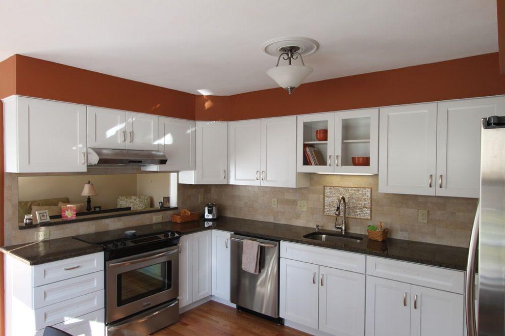 Lowes Derby Ct   Traditional Kitchen  and Frigidaire Granite Kraft Maid Tile Back Splash