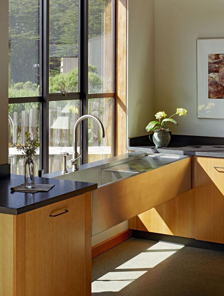 Lowes Derby Ks   Contemporary Kitchen Also Baseboards Dark Countertops House Plants Industrial Sink Kitchen Hardware Minimal Open