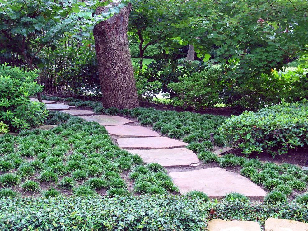 Lowes Enterprise Al   Mediterranean Landscape  and Flagstone Walk Foliage Grasses Mass Planting Path Walkway