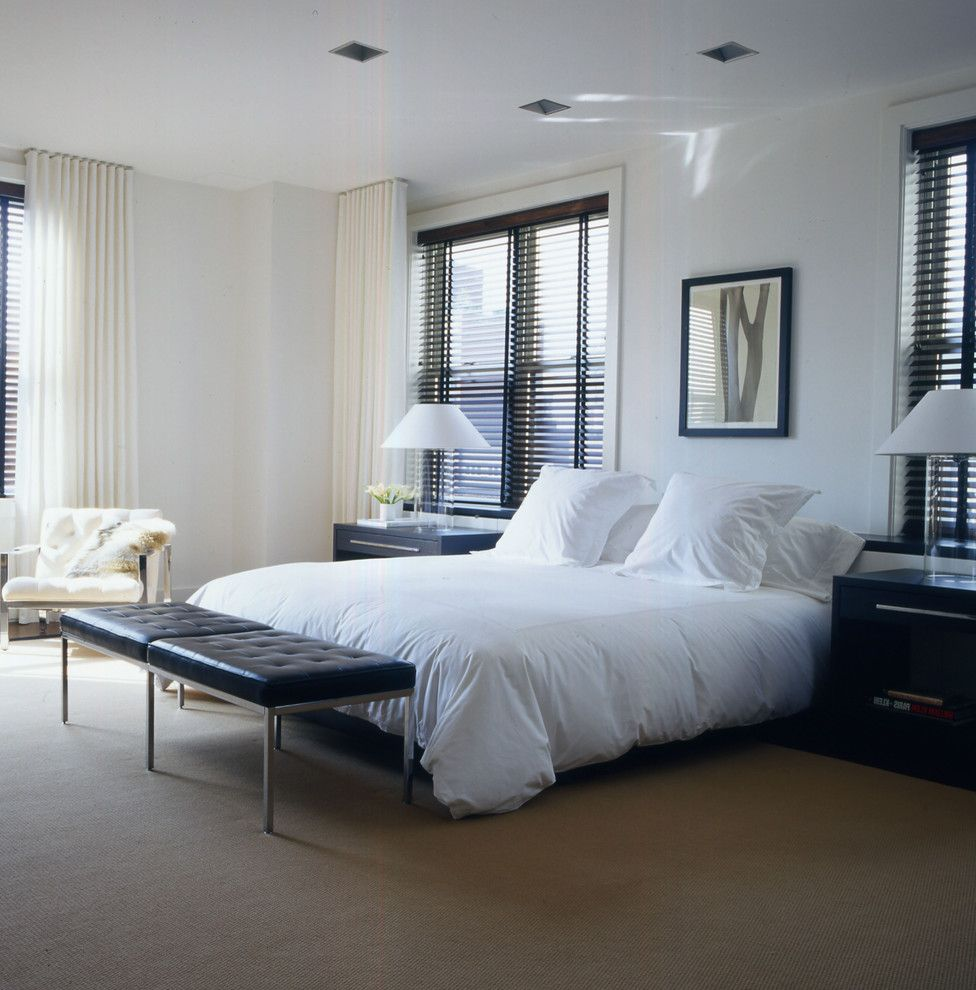 Foot Of The Bed lowes faux wood blinds contemporary bedroom also armchair