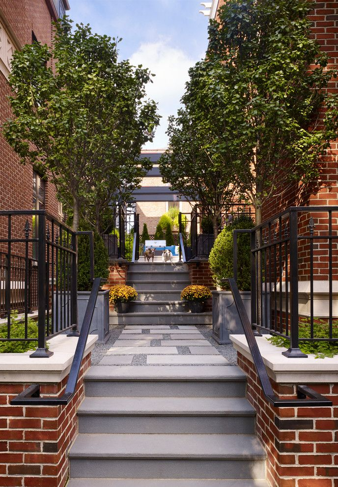 Lowes Fremont Ohio   Traditional Entry  and Bluestone Brick Brick and Limestone Built in Outdoor Grill City Home Mulit Level Pergola Townhome Townhouse
