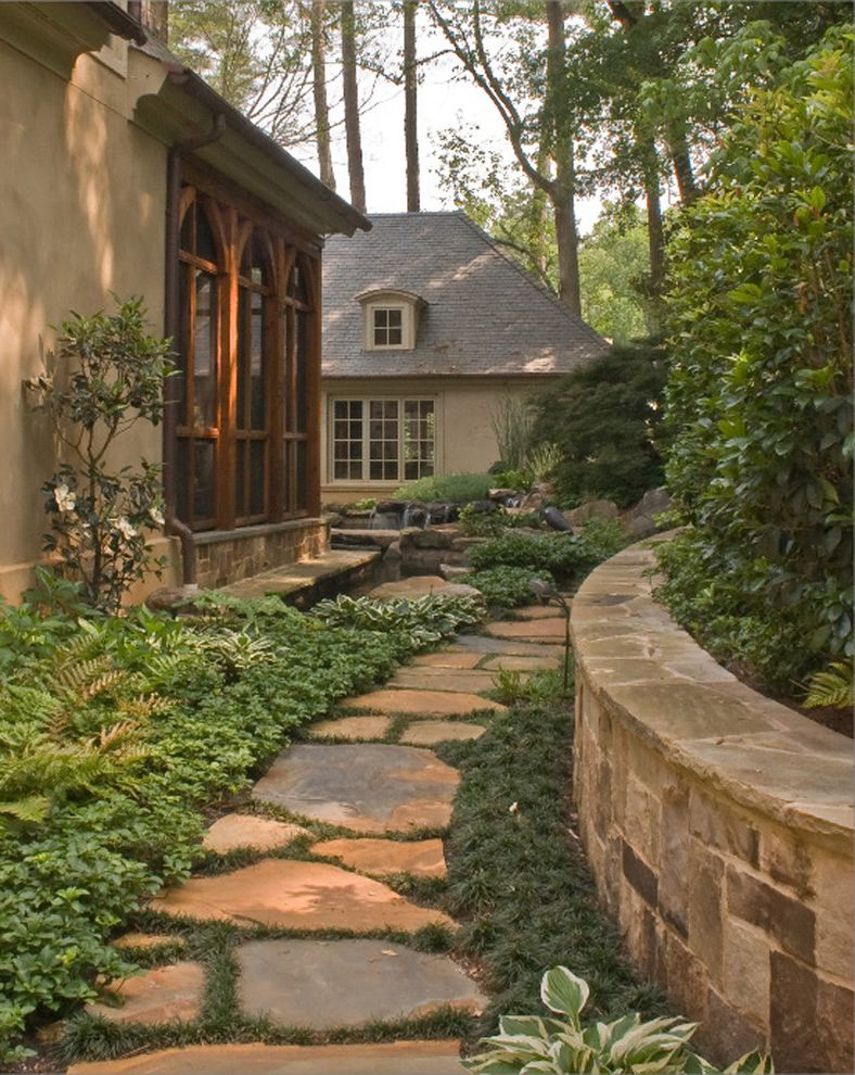 Lowes Fremont Ohio   Traditional Landscape Also Accent Window Exterior Flowerbed French Windows Pavers Stone Pavers Stone Wall Stucco Timber Wood