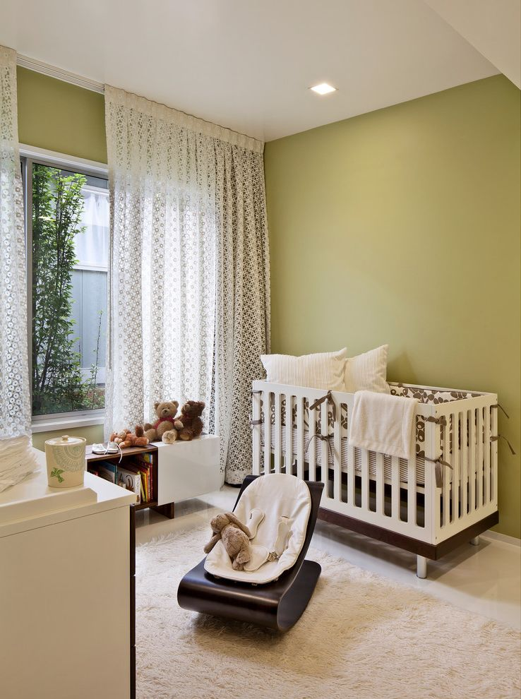 Lowes Hvac Installation   Midcentury Nursery Also Ceiling Lighting Curtains Drapes Green Walls High Ceilings Ideas for Baby Boy Nursery Modern Crib Nursery Recessed Lighting Rocker Tall Ceilings White Floor Window Sheers Window Treatments