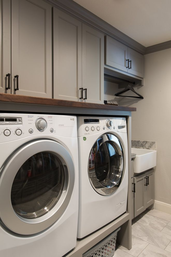 Lowes Kingwood Transitional Laundry Room Also Built In Storage Farm Sink Laundry Room Appliances Marble Floor Mud Room Oiled Rubbed Bronze Rustic Modern Storage And Organization Utility Sink Washer And Dryer Cabinet