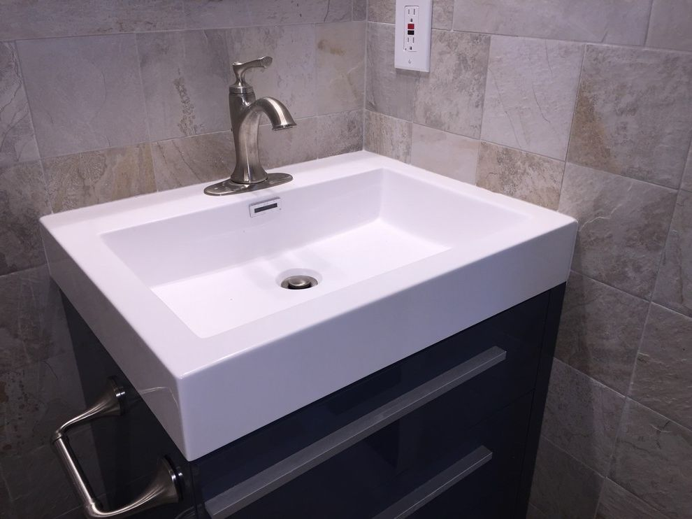 Lowes Medford with Contemporary Spaces  and Blue Bathroom Blue Vanity Grey Bathroom Lowes Home Improvement Masterbath Shower