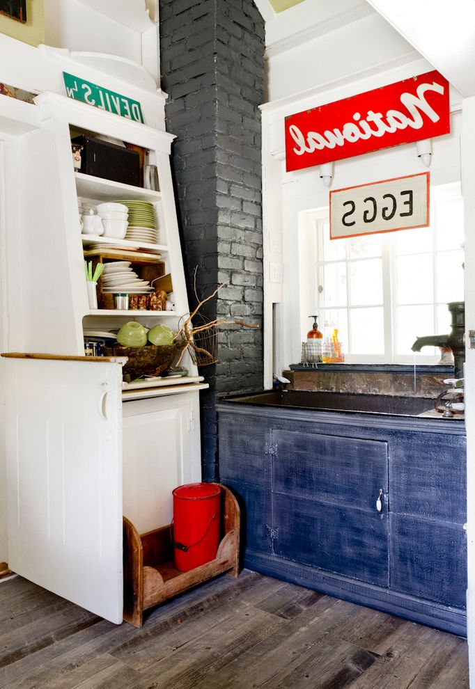 Lowes New Iberia with Farmhouse Kitchen Also Antique China Cabinet Corner Eclectic Painted Brick Signs Window Window Sill