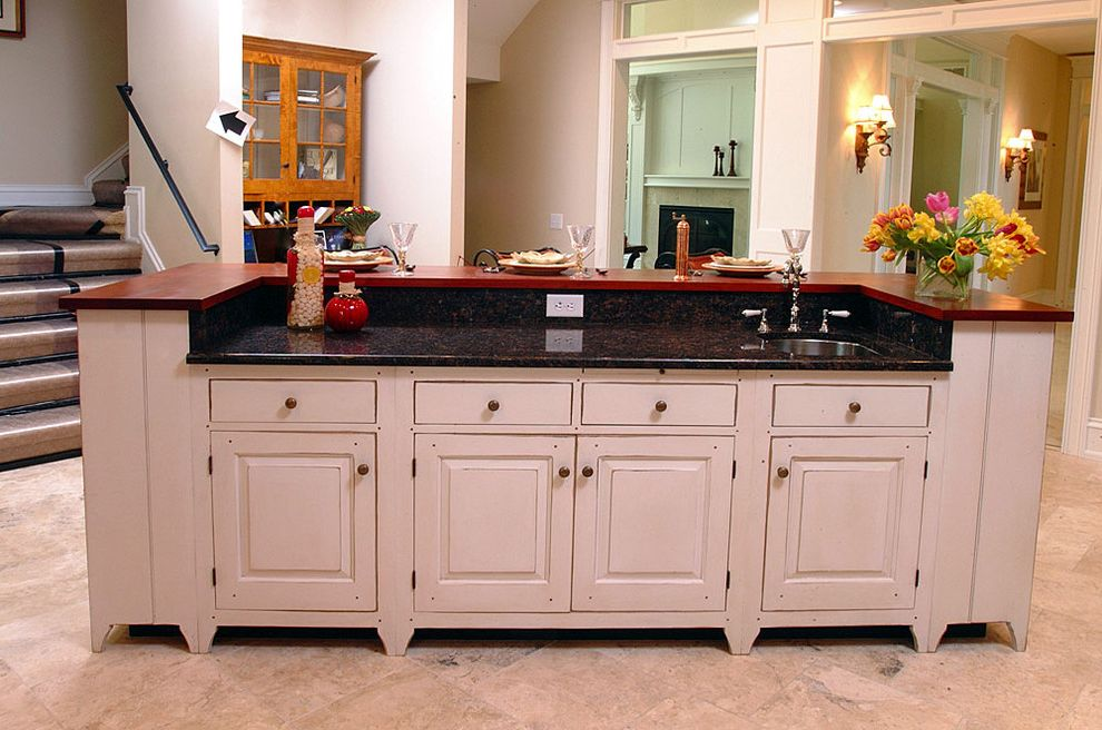 Lowes Niles Ohio with Rustic Kitchen  and Breakfast Bar Distressed Finish Eat in Kitchen Floral Arrangement Kitchen Island Rustic White Cabinets