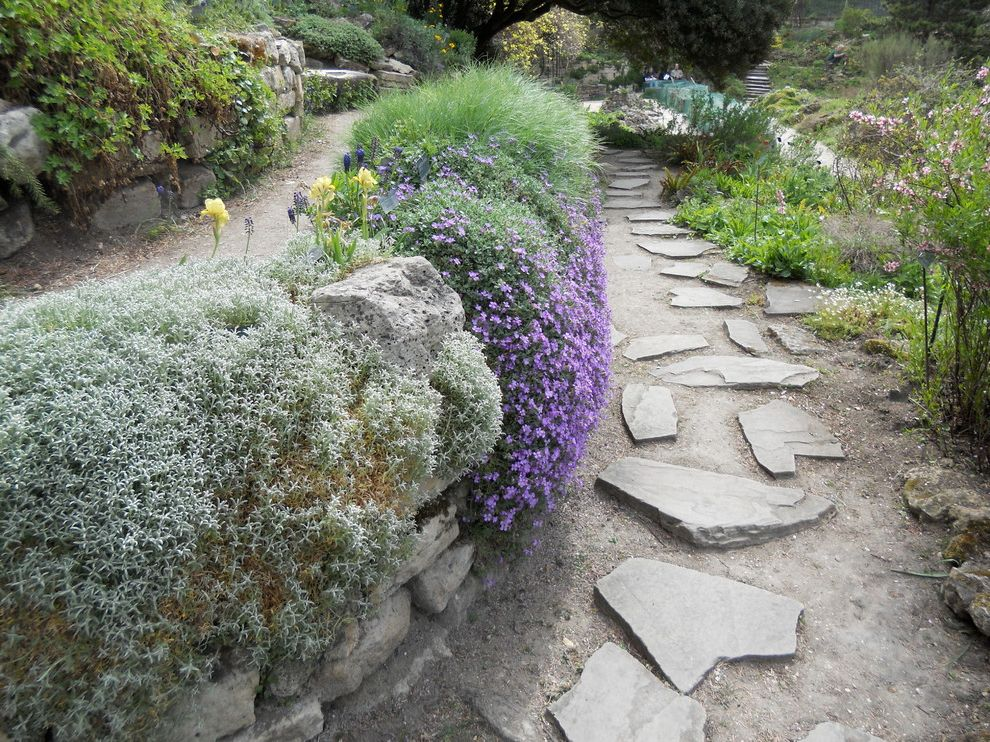 Lowes Paris Tn   Traditional Landscape Also Alpine Garden Drought Tolerant Gravel Lavender Rock Garden Rock Walls Stone Path Xeriscape