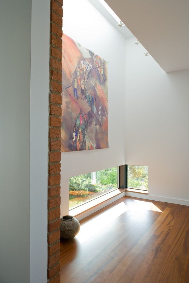 Lowes Pooler Ga with Contemporary Dining Room  and Art Wall Brick Floor Skylight Window