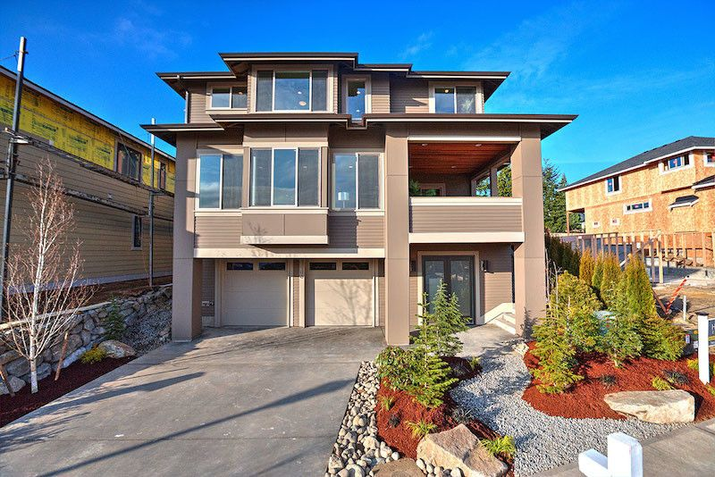 Lowes Renton    Exterior Also 3 Story Home Brown Tan Home Covered Deck with View Custom Built Home Long Driveway Low Maintenance Yard
