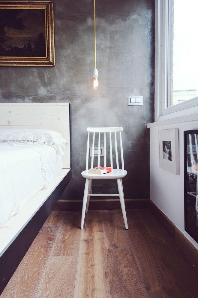 Lowes Rockford Il   Industrial Bedroom  and Cemento Spatolato Cornice Dorata Lampadina Appesa Letto Moderno Parquet Sedia Bianca Sedia Di Legno Sedia Moderna