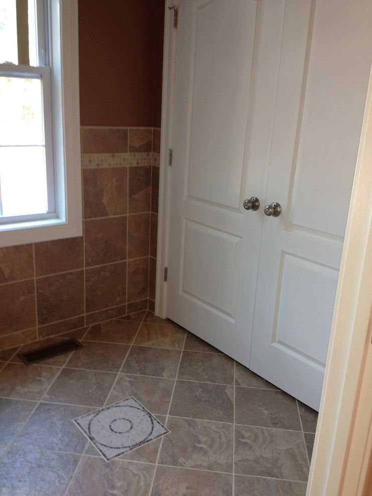 Lowes Seekonk   Traditional Entry  and Ceramic Floor Mosaic Mudroom Pattern Porcelain Tile Walls