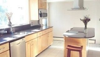 Lowes Seekonk   Traditional Kitchen Also Double Oven Modern Natural Maple Kraftmaid Granite Q Washer Dryer