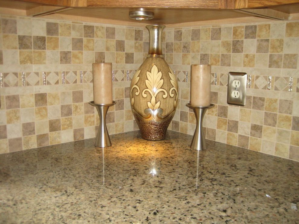 Lowes Seekonk with Traditional Kitchen  and Accent Backsplash Ceramic Floor Granite Mosaic Tile