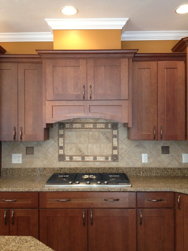 Lowes Seekonk with Traditional Kitchen  and Island Kraftmaid Rye Durham Maple Jupara
