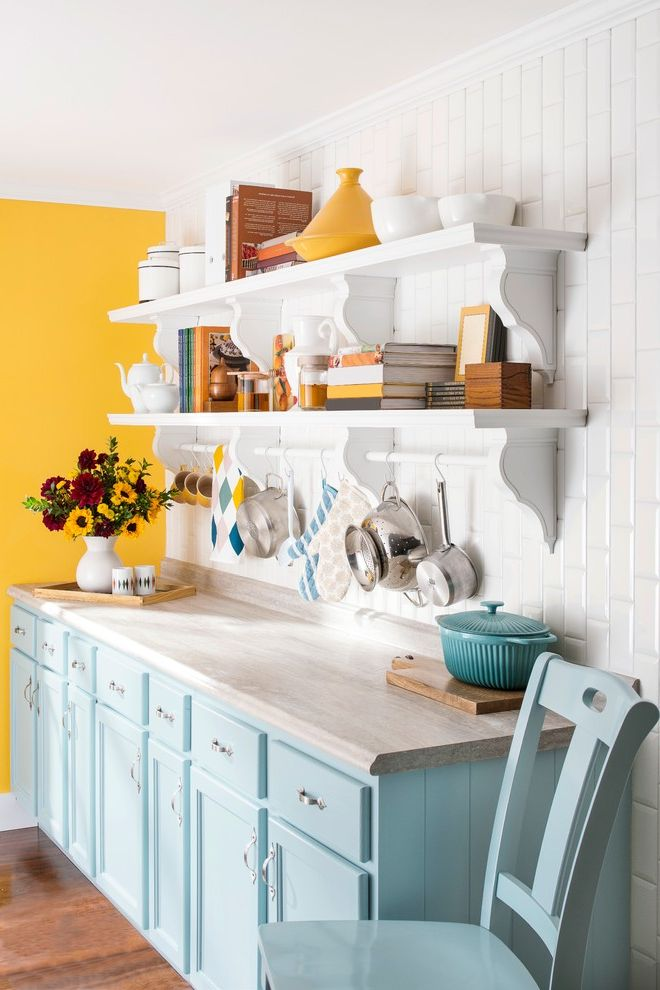 Lowes Springdale Ar   Farmhouse Kitchen  and Display Shelving Farmhouse Kitchen Hanging Pots Laminate Countertop Lowes Lowes Creative Ideas Open Shelving Painted Kitchen Cabinets Rustic Kitchen Subway Backsplash Tile White Kitchen