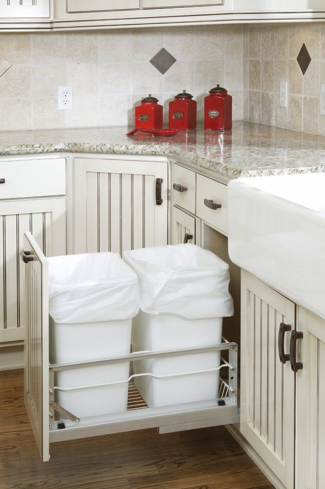 Lowes Trash Cans   Traditional Kitchen  and Traditional