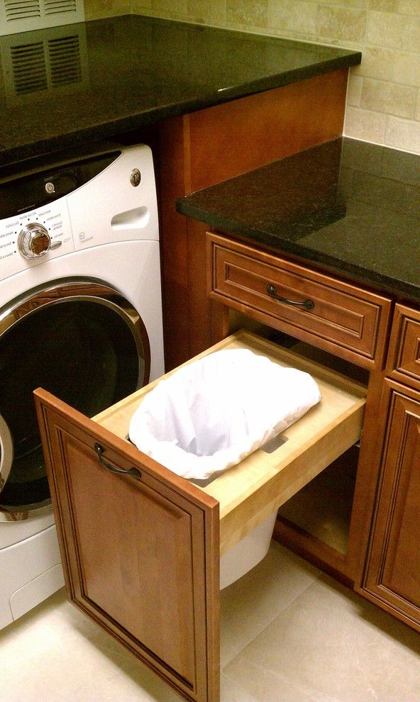 Lowes Trash Cans   Traditional Laundry Room Also Kitchen