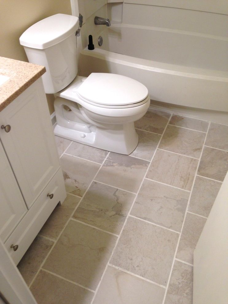Lowes Virginia Beach   Transitional Spaces  and Accessories Bathroom Beige Guest Bathroom Hall Bathroom Kohler Lighting Mirror Paint Remodel on a Budget Resale Value Toilet Towel Bar Vanity White