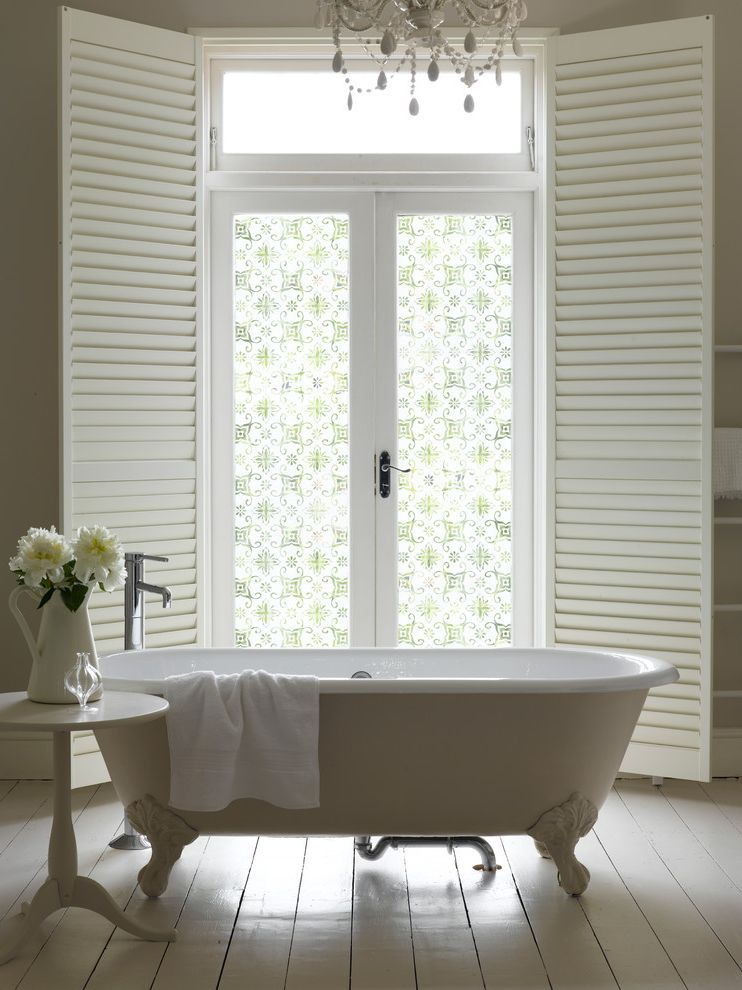 Lowes Window Film with Traditional Bathroom  and Decor Design Diy Frosted Film Frosted Glass Interior Design Interior Designer Interiors Window Film