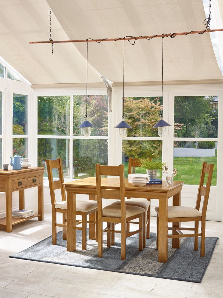 Lucys Furniture with Rustic Dining Room and Conservatory Conservatory Dining Dining Room Dining Room Rug Oak Oak Furniture Oak Furniture Land Pendant Lighting Wooden Dining Furniture Wooden Furniture
