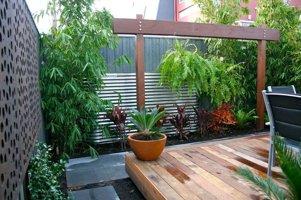 Lynch Landscaping with Contemporary Landscape Also Bamboo Bluestone Stainless Steel Water Tank