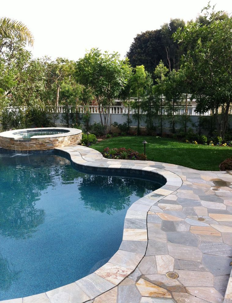 Maddens Spa   Traditional Pool  and Landscaping Pool and Spa Stone Flagmats