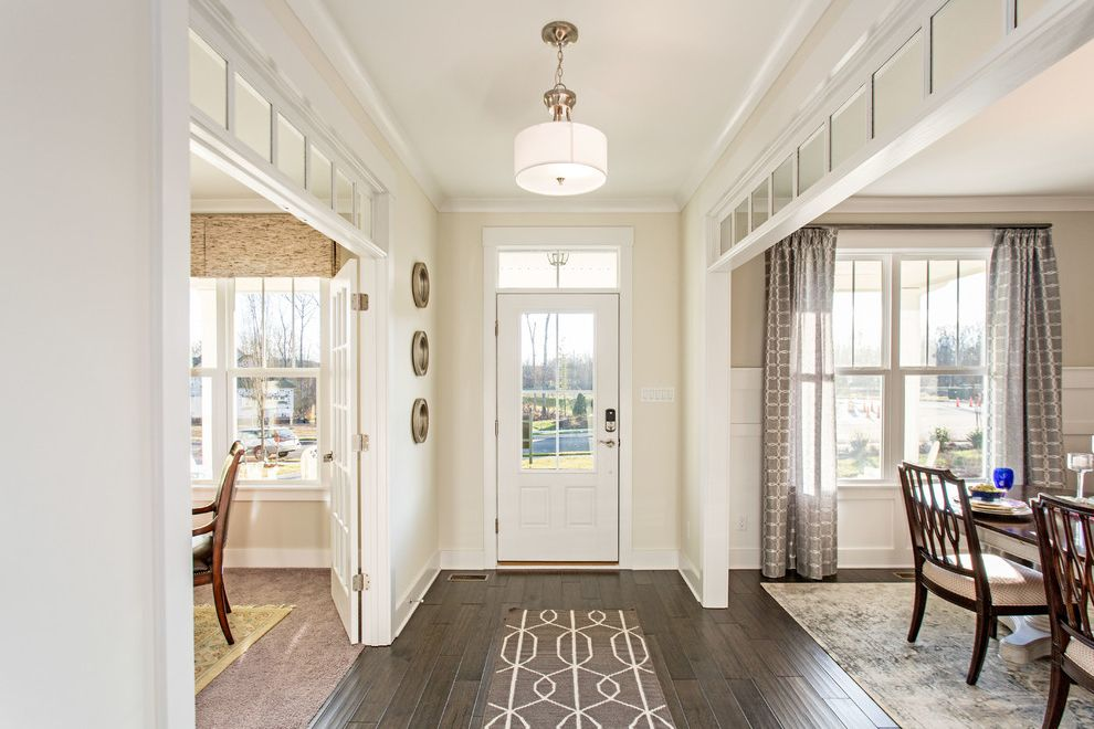 Magnolia Homes Waco with Beach Style Entry Also Drum Pendant Light Entryway Formal Dining Room Glass Door Gray Runner Home Office Pendant Lighting Traditional Home
