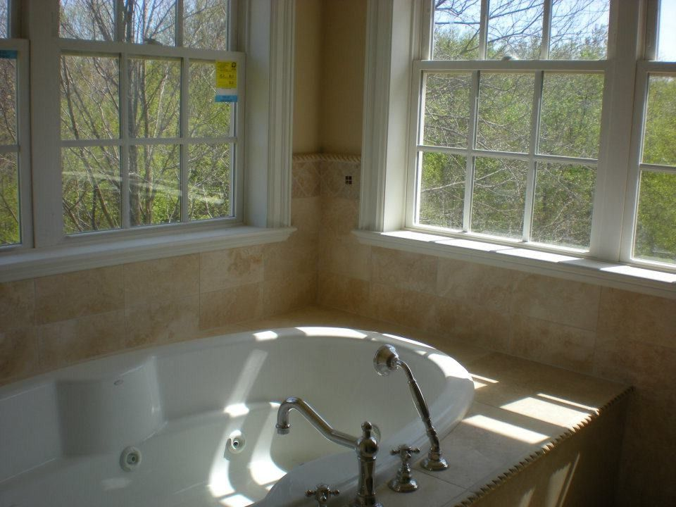 Mangia Watertown Ct   Traditional Bathroom  and Master Bath Travertine