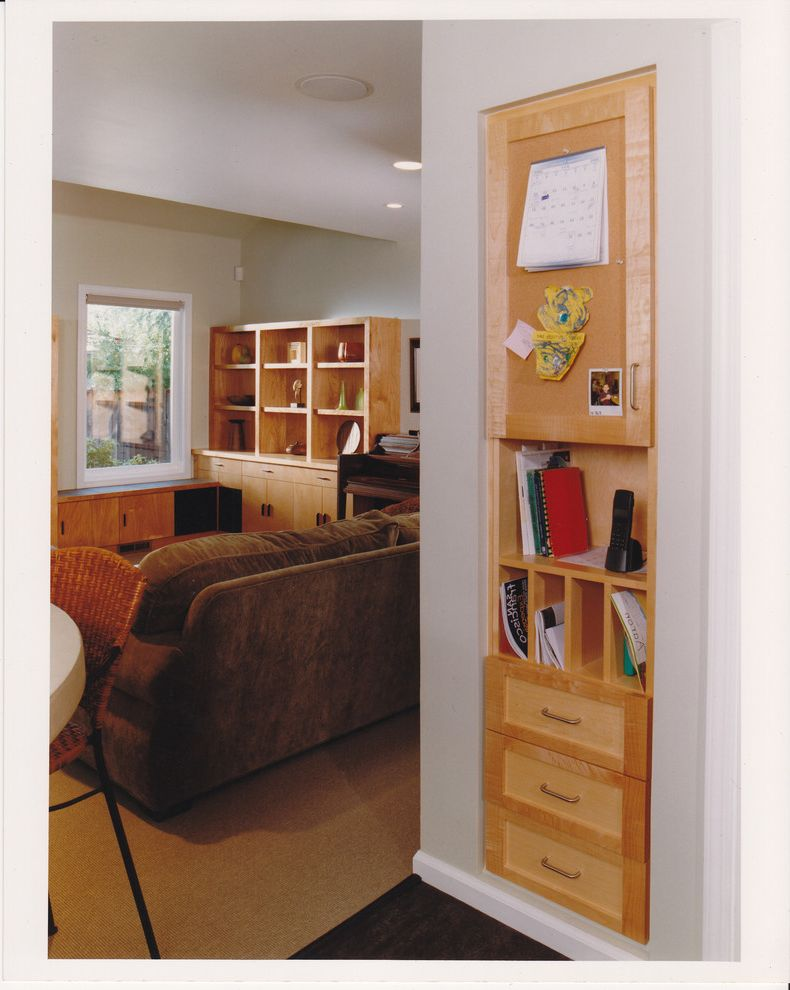 Manhattan Center for Kitchen and Bath   Contemporary Home Office Also Built Ins Bulletin Board Cubbies Mail Center Message Center Shelving Storage