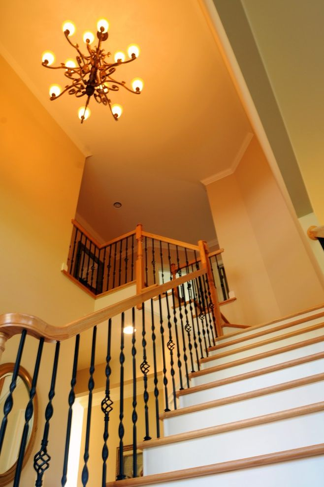 Marini Homes with Traditional Spaces Also Builder Model Home Decorating Ideas Wrought Iron Stairs