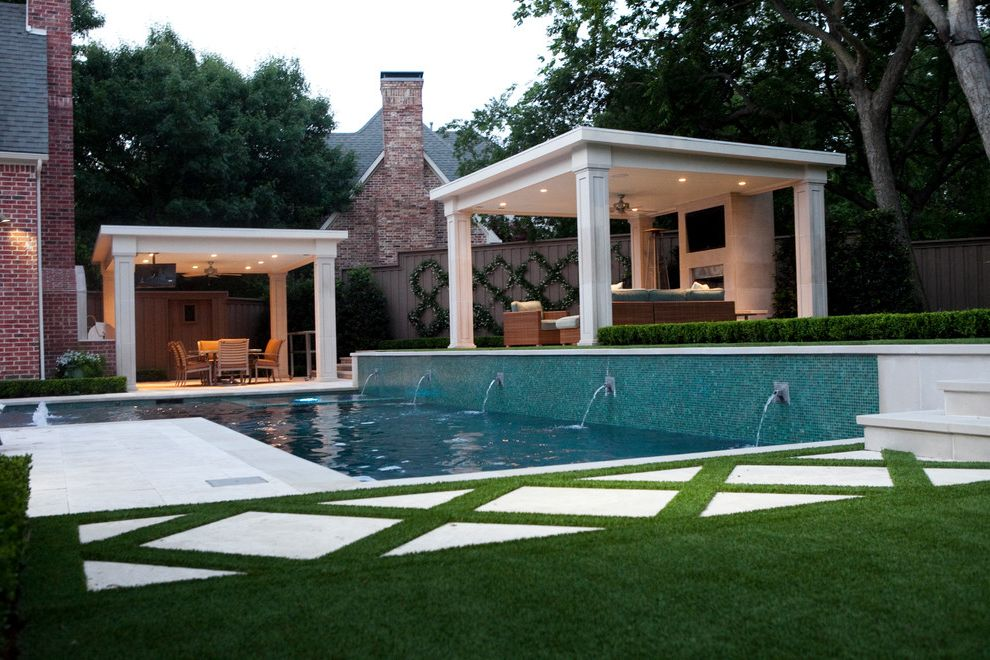 Matthews Specialty Vehicles with Transitional Pool Also Geometry Grass Minimalist Mosaic Tile Pergola Pool Fountain Pool Tile Split Level