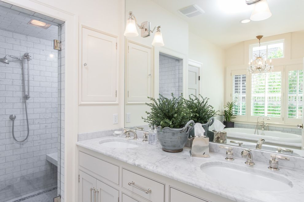 Mcguire Electric   Traditional Bathroom  and Farmhouse Traditional Vaulted Ceilings Wine Country
