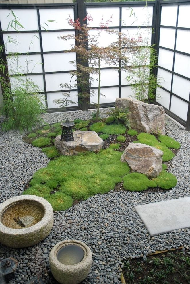 Meditation Garden San Diego   Asian Landscape  and Art Asian Bamboo Fen Shui Gravel Indoors Japanese Maple Japanest Garden Lantern Meditation Garden Moss Rocks Shoji Screen Stone Pots