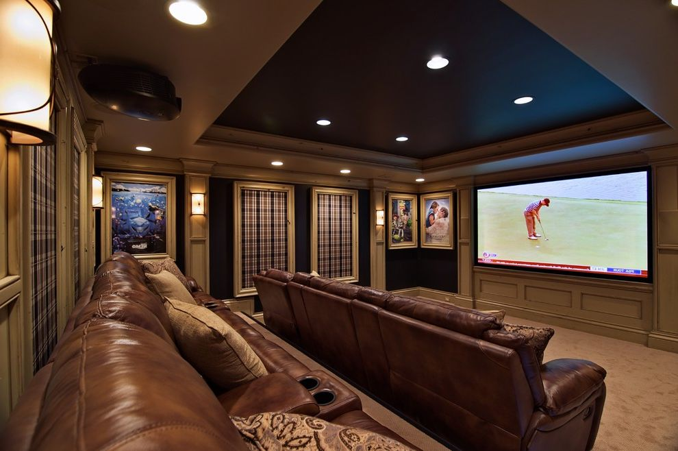 Menomonee Falls Theater   Traditional Home Theater  and Traditional