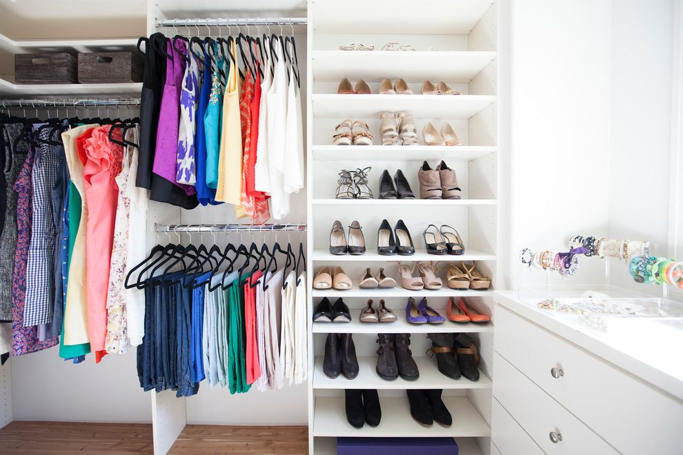 Mens Closet Ideas   Contemporary Closet  and Ankle Boots Closet Organization Ideas Closet Organizers High Heels Jewelry Storage Pants Hangers Pants Storage Shoe Shelves Shoe Storage Summer Dresses Tank Tops