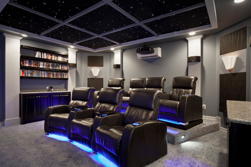 Metropolitan Theater Austin   Contemporary Home Theater Also Contemporary