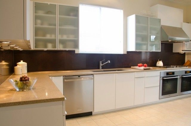 Meyerland Glass   Transitional Kitchen  and Aluminum Contemporary Glass Houston Kitchen Miele Poggenpohl Stainless Steel Transitional White