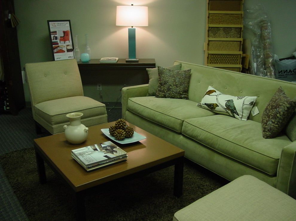 Mgbwhome   Eclectic Family Room  and Armless Chair Concrete Coffee Table