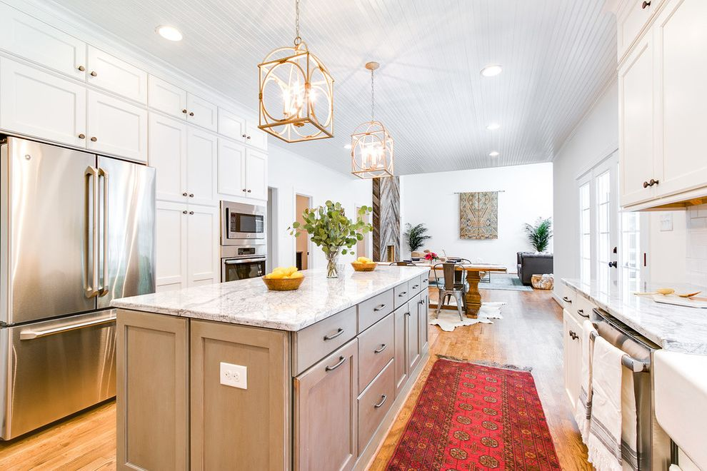 Midsouth Appliances with Transitional Kitchen and Transitional