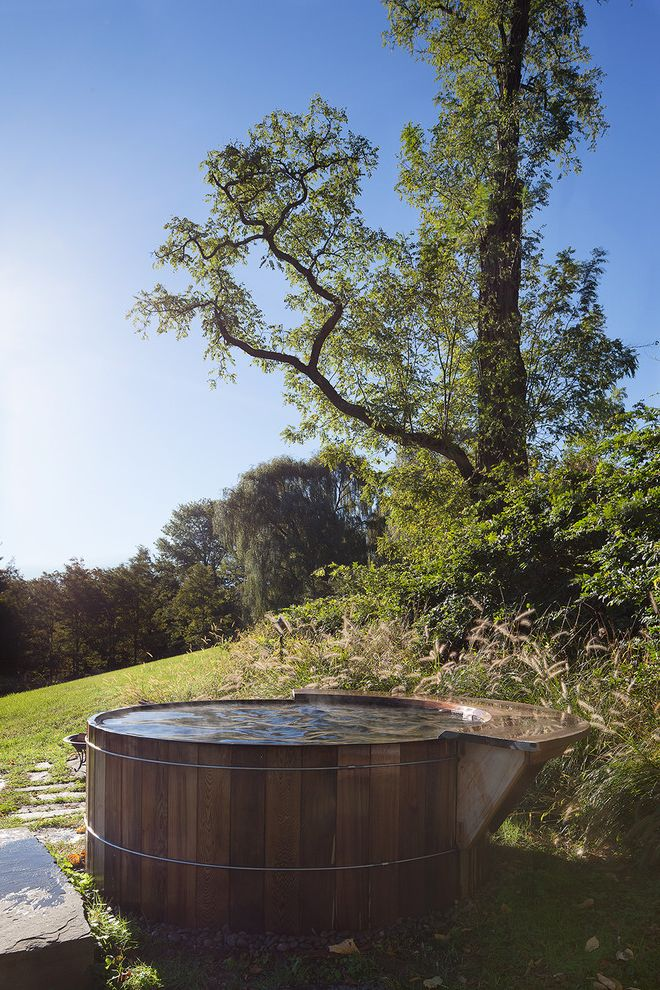 Mill Valley Spa   Traditional Pool  and Above Ground Pool Bathing Cedar Hot Tub Ipe Long Windows Modern Pool Round Pool Sauna Scenic Soapstone