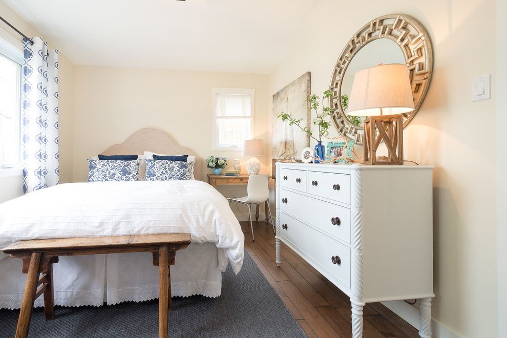 Mirror Dressor   Beach Style Bedroom Also Bathroom Bedroom Blue Coastal Cottage Open Concept Sunroom Vintage Furniture White Kitchen