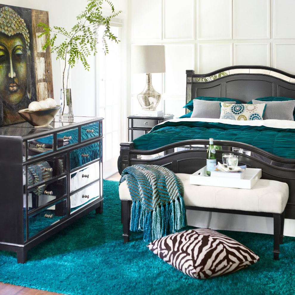 Mirror Dressor with Contemporary Bedroom Also Contemporary