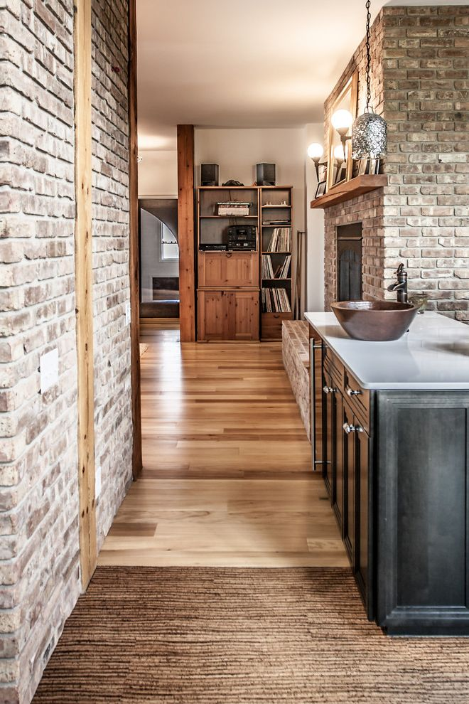 Mohawk Engineered Wood Flooring Reviews with Eclectic Spaces  and Bowl Sink Brick Brick Wall Cottage Kitchen Island Reclaimed Engineered Elm Flooring Reclaimed Fir Timber Beams Reclaimed Fir Timber Mantle Reclaimed Wood Timber Tables Wood Anchor