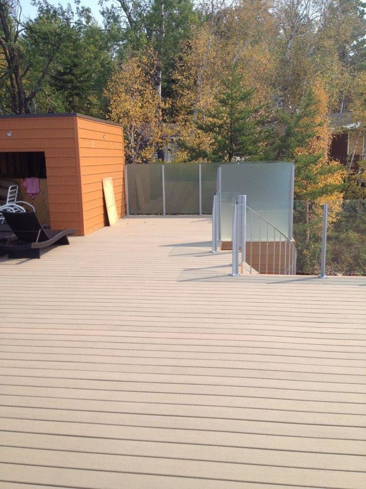 Moisture Shield Decking   Contemporary Spaces Also Decking Dock Earthtone Moistureshield Composite Decking Outdoor Living Pier Railing