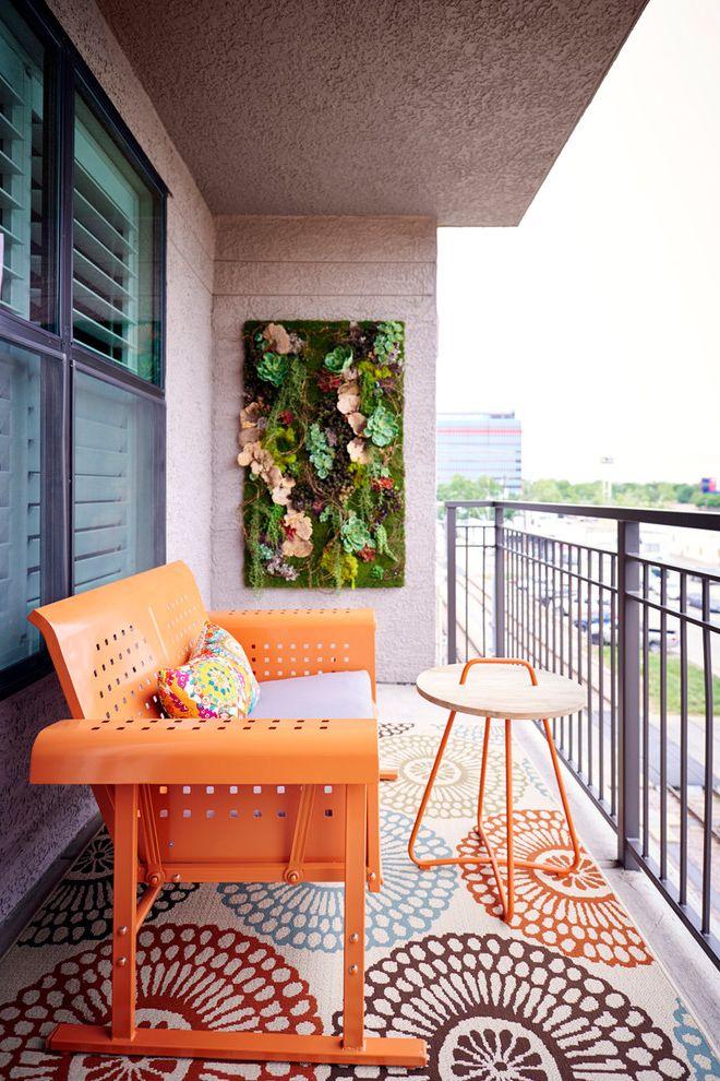 Monte Como Glider   Eclectic Balcony Also Balcony Deck Gliders Orange Outdoor Living Outdoor Rug Outdoor Wall Art Shutters Succulent